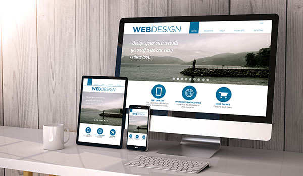 devices responsive with web design fluid template